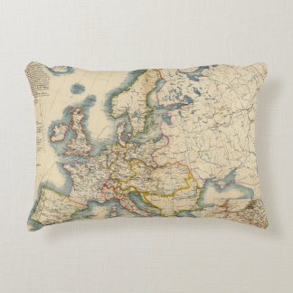 Commerciale Industrial Map of Europe Accent Pillow