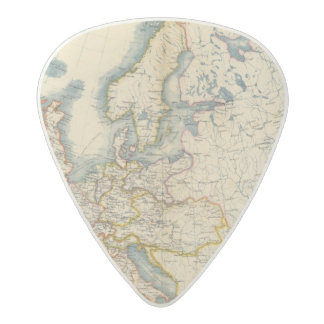 Commerciale Industrial Map of Europe Acetal Guitar Pick