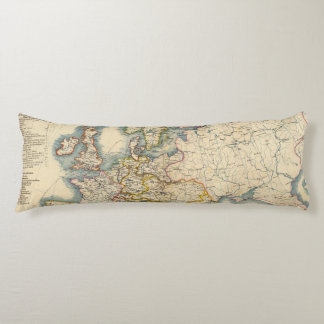 Commerciale Industrial Map of Europe Body Pillow