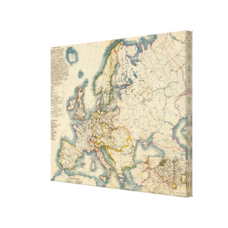 Commerciale Industrial Map of Europe Canvas Print