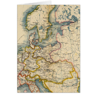 Commerciale Industrial Map of Europe Card