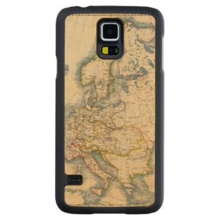 Commerciale Industrial Map of Europe Carved® Maple Galaxy S5 Slim Case