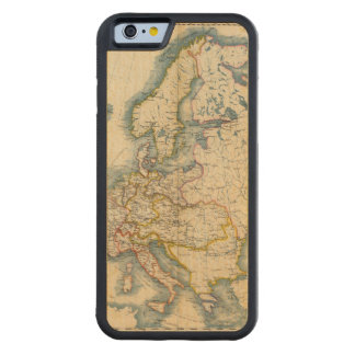 Commerciale Industrial Map of Europe Carved® Maple iPhone 6 Bumper