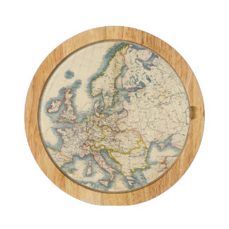 Commerciale Industrial Map of Europe Cheese Board