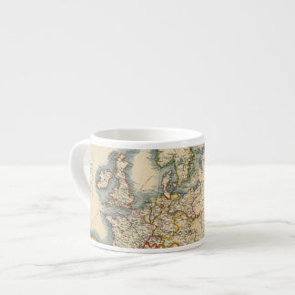 Commerciale Industrial Map of Europe Espresso Cup