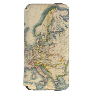 Commerciale Industrial Map of Europe iPhone 6/6s Wallet Case