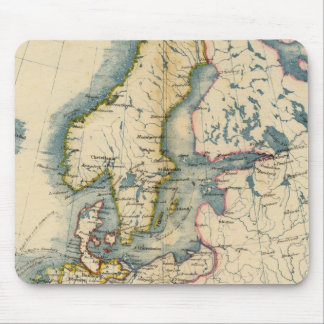 Commerciale Industrial Map of Europe Mouse Pad