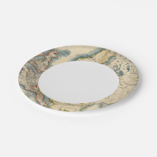 Commerciale Industrial Map of Europe Paper Plate