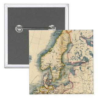 Commerciale Industrial Map of Europe Pinback Button