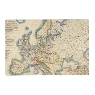 Commerciale Industrial Map of Europe Placemat