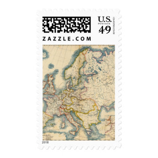 Commerciale Industrial Map of Europe Postage Stamp