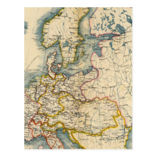 Commerciale Industrial Map of Europe Postcard