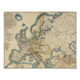 Commerciale Industrial Map of Europe Poster