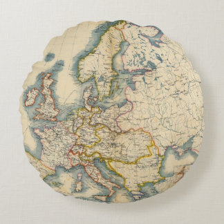 Commerciale Industrial Map of Europe Round Pillow