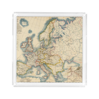 Commerciale Industrial Map of Europe Serving Tray