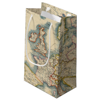 Commerciale Industrial Map of Europe Small Gift Bag