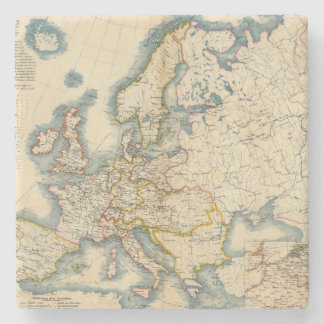 Commerciale Industrial Map of Europe Stone Coaster