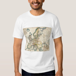 Commerciale Industrial Map of Europe Tee Shirt