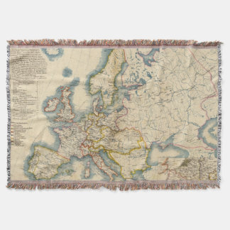 Commerciale Industrial Map of Europe Throw