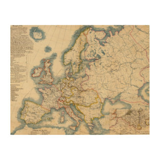 Commerciale Industrial Map of Europe Wood Print