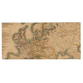 Commerciale Industrial Map of Europe Wood USB Flash Drive
