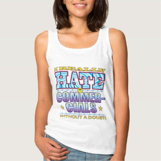Commercials Hate Face Basic Tank Top