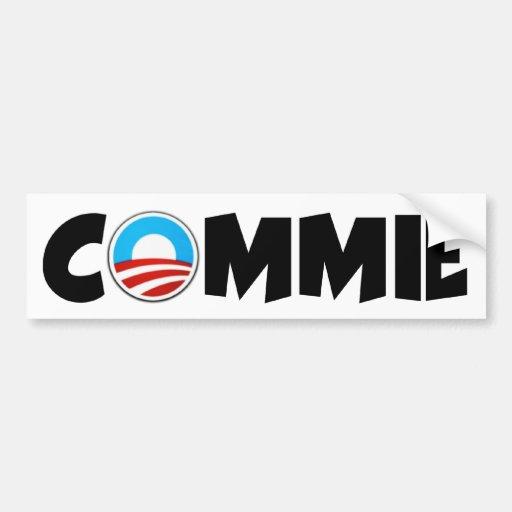 Commie anti de Obama Pegatina De Parachoque