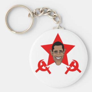 Commie de Obama Llavero Redondo Tipo Pin