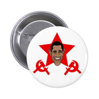 Commie de Obama Pin Redondo 5 Cm