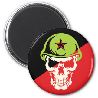Commie Skull Anarchy Edition Magnet