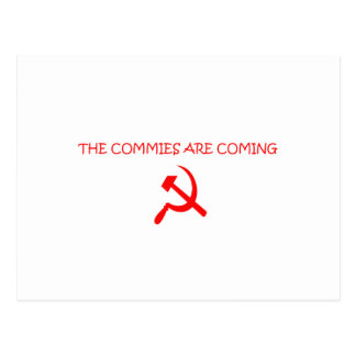 COMMIES POSTCARD