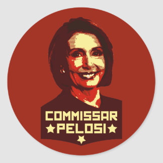 Commissar Pelosi Classic Round Sticker