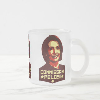 Commissar Pelosi 10 Oz Frosted Glass Coffee Mug