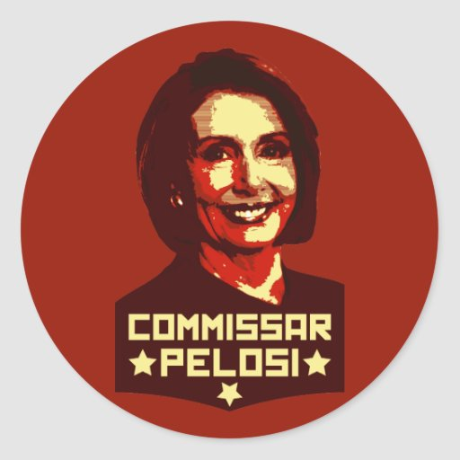 Commissar Pelosi Pegatina Redonda