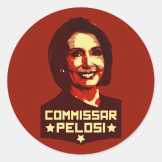 Commissar Pelosi Round Sticker