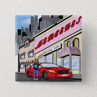 Commission Comic Art Style Pinback Button