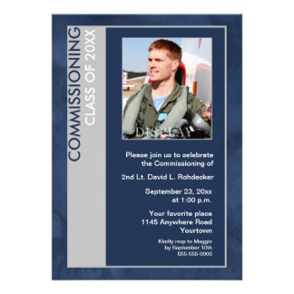 Commissioning Class of Photo Invitation (Blue)