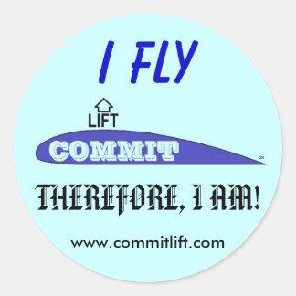 COMMIT LIFT Logo Classic Round Sticker