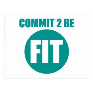 Commit to be Fit | AQUAFRESH Postcard