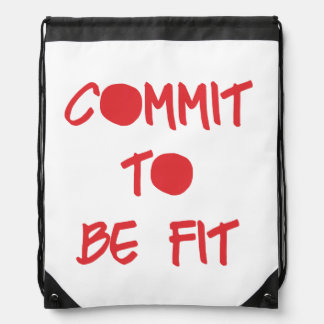Commit to be Fit Drawstring Bag