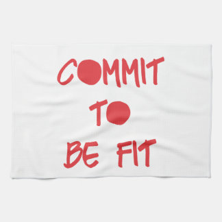 Commit to be Fit Motivational Workout Gym Towels