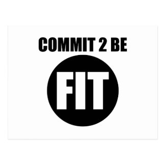 Commit to be Fit Postcard