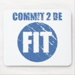 Commit to be Fit | Retro Style | CERULEAN Mouse Pad