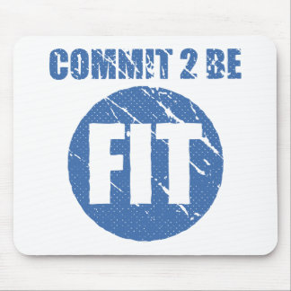 Commit to be Fit   Retro Style   CERULEAN Mouse Pad