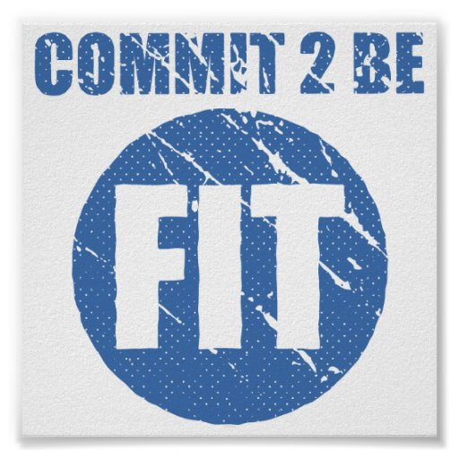 Commit to be Fit | Retro Style | CERULEAN Posters