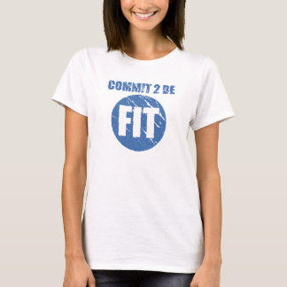 Commit to be Fit | Retro Style | CERULEAN T-Shirt