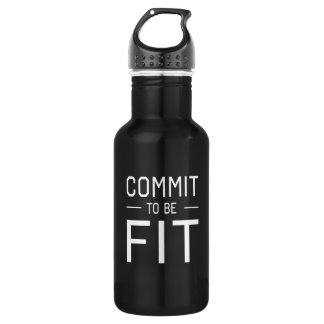 Commit to be Fit Stainless Steel Water Bottle
