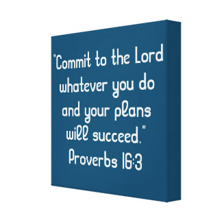 """""""Commit to the Lord"""" 12 x 12 Scripture Canvas"""