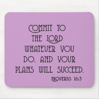 Commit to the Lord Bible Quote Tshirts Mouse Pad