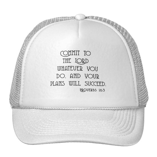 Commit to the Lord Bible Quote Tshirts Trucker Hat
